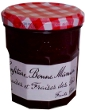 confiture de fraises et fraises des bois, strawberry and wild strawberry jam