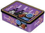 Gavottes Crepes Dentelles with Milk Chocolate Purple Bigouden Tin